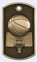 2 in. Dog Tag - Basketball