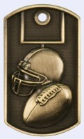 2 in. Dog Tag - Football