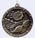2 in. Shooting Star Medal - Swimming