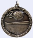 2 in. Shooting Star Medal - Volleyball