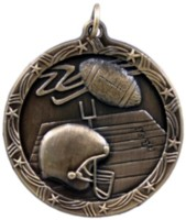 1&#190 in. Football Shooting Star medal
