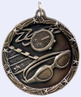 1&#190 in. Swimming Shooting Star medal