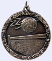 1&#190 in. Volleyball Shooting Star medal